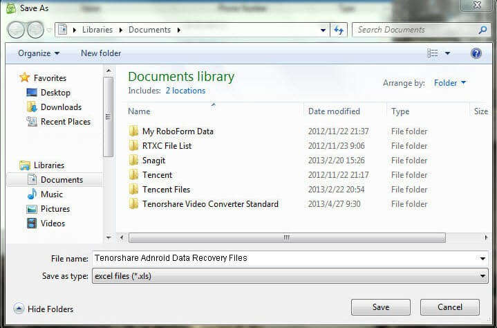 Recover android files to computer