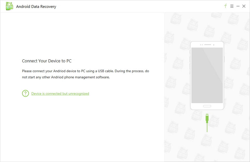 Screenshots of Android Data Recovery