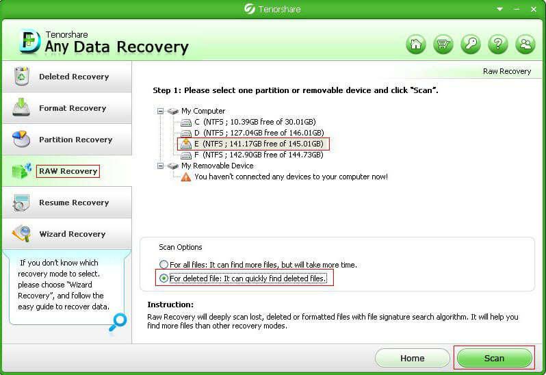 récupérer des données perdues