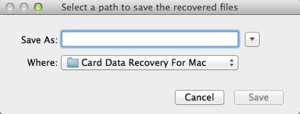 interface of card data recovery for mac