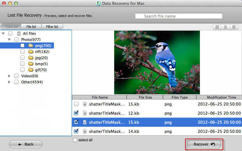 mac data recovery Screenshots