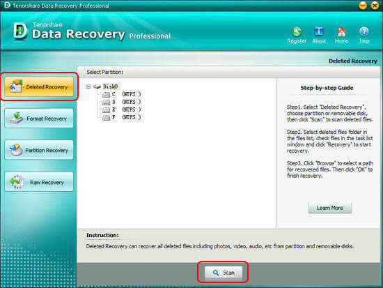 Tenorshare Data Recovery Standard - 数据恢复软件