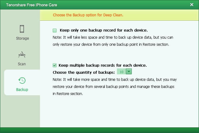 iPhoneのoptimzier