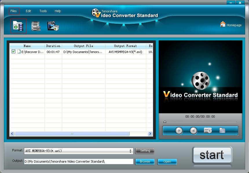 tenorshare無料のビデオコンバータのスクリーンショット