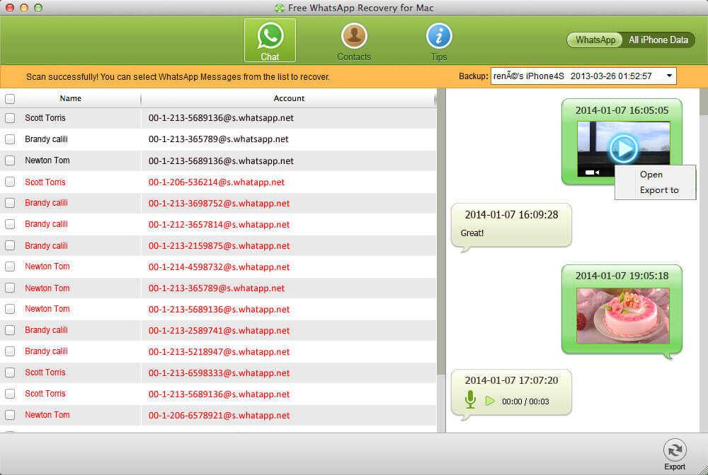 cómo recuperar WhatsApp historial de chat en mac