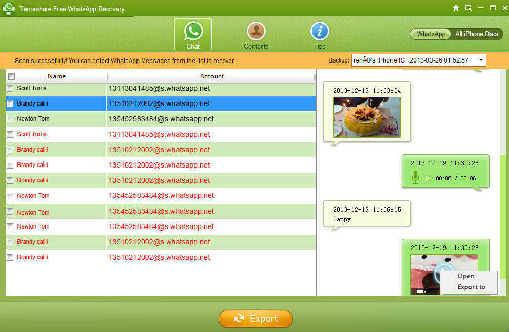 WhatsApp récupérer des messages gratuitement