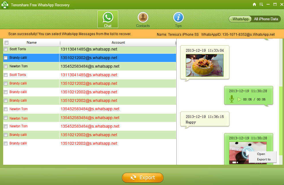 recuperar mensajes WhatsApp gratis
