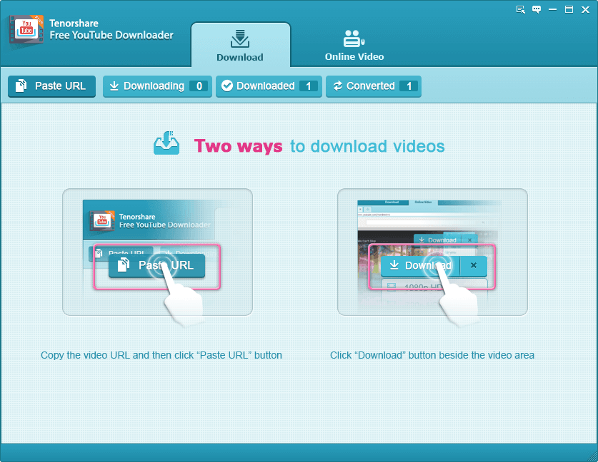 cómo utilizar Tenorshare Free YouTube Downloader
