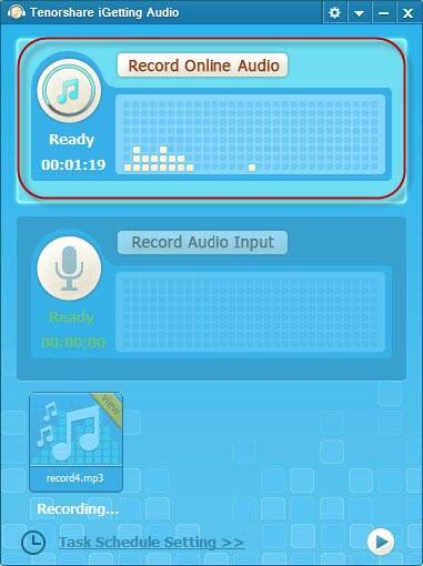 grabar audio en streaming