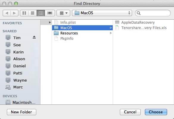 のスクリーンショットは、Mac上でiPadのデータを回復