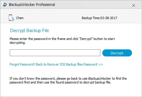 decrypt itunes backup encryption
