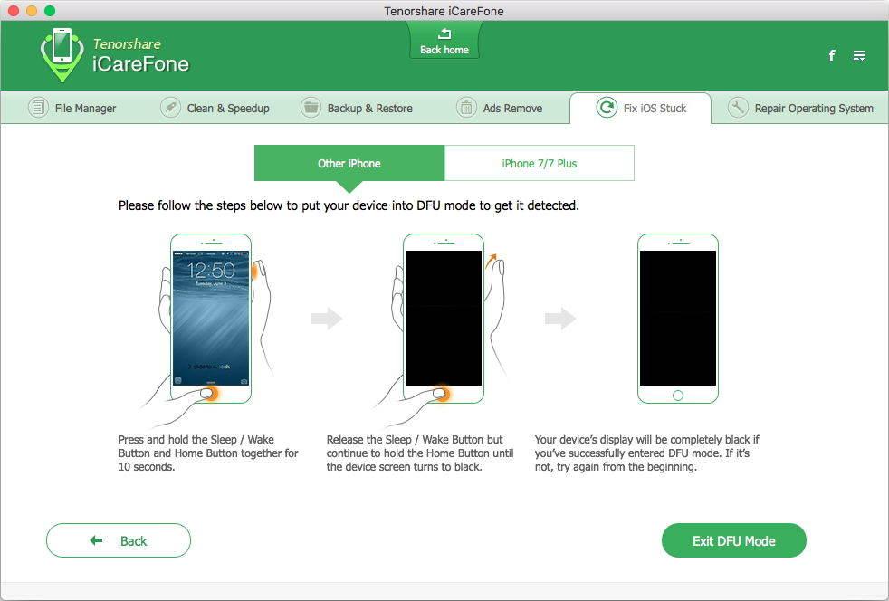 iPhoneのDFUモードに入る方法