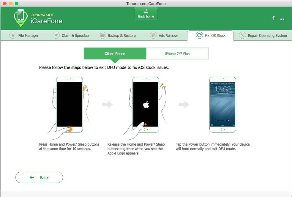 iPhoneのDFUモードを終了する方法