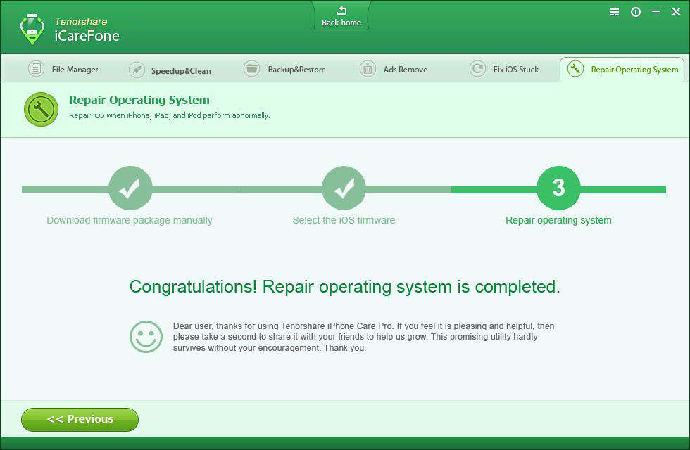 finish system repair