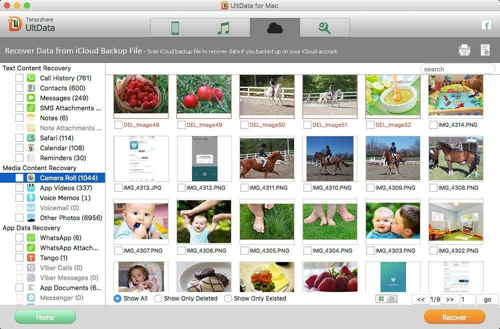 Recover iPhone WhatsApp contacts, messages, history from iCloud on Mac
