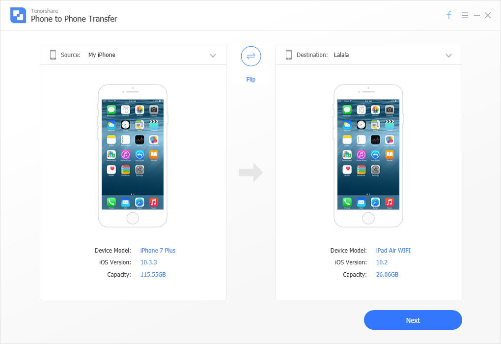 how to transfer contacts from one iphone to another without itunes