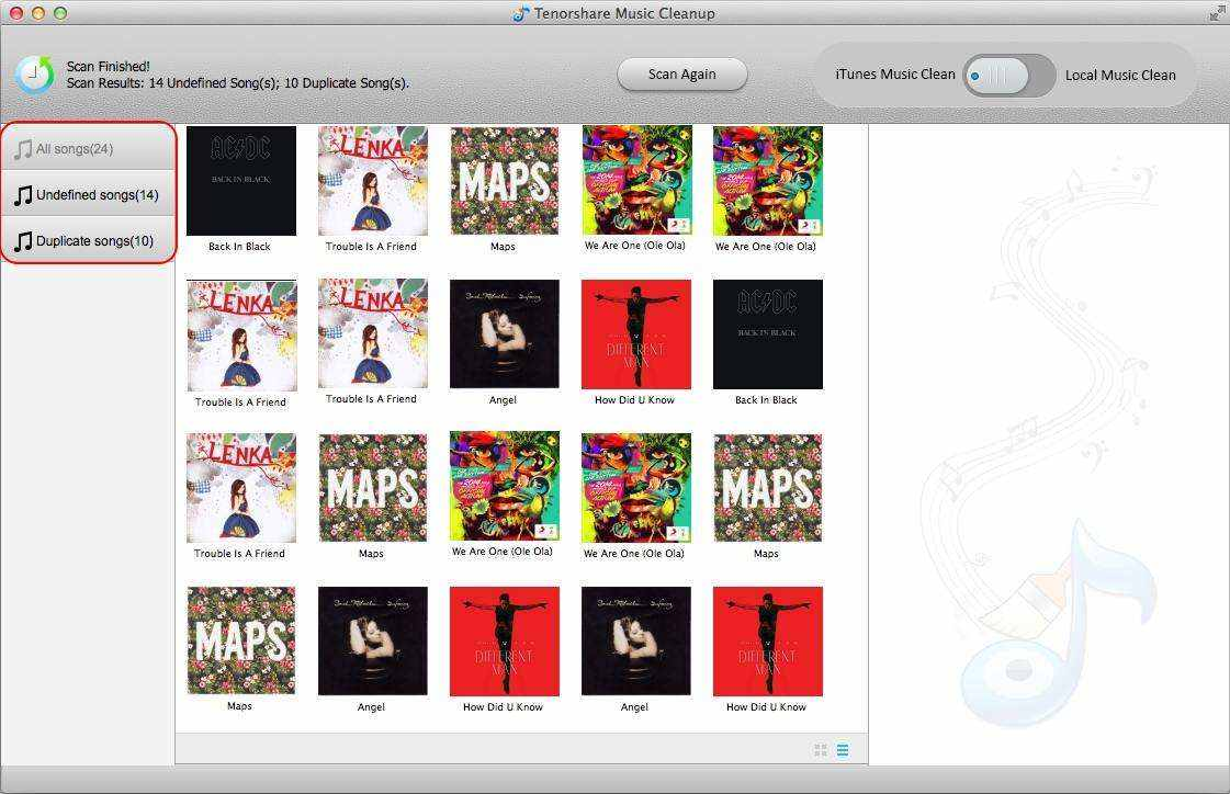 how to remove duplicated songs in itunes on mac
