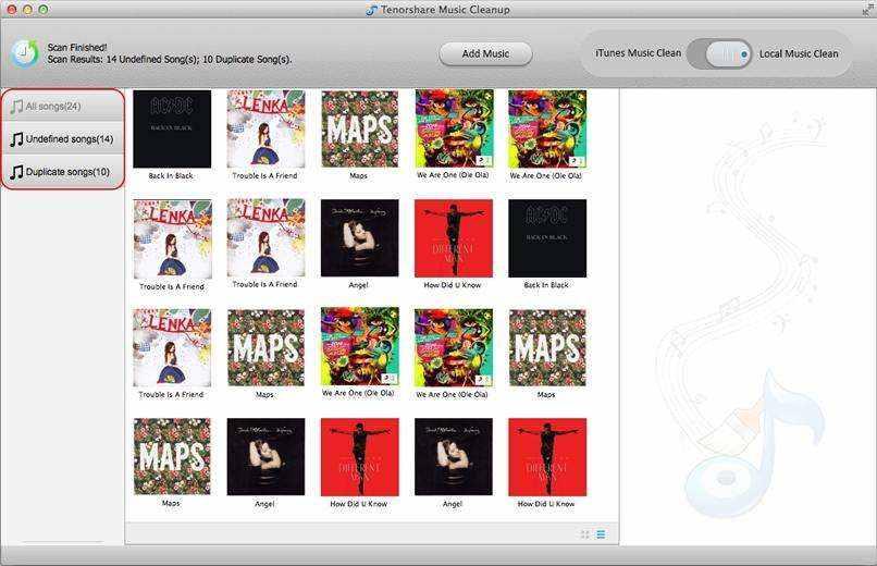 修理は、Mac上のiTunesで曲を誤ったラベル