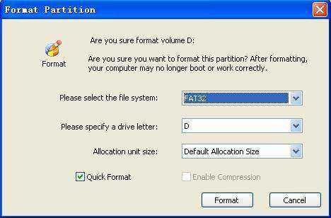 screenshots de partition de gestionnaire