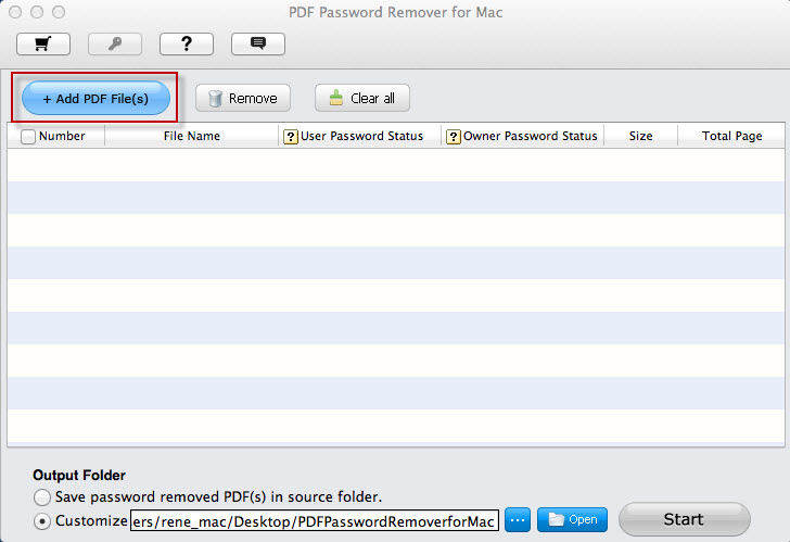 PDF Password Remover screenshots pour mac
