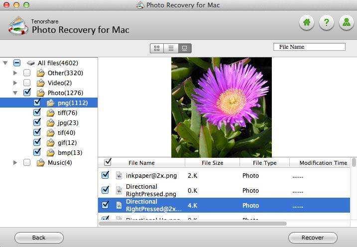 Mac上で失われた写真を回復