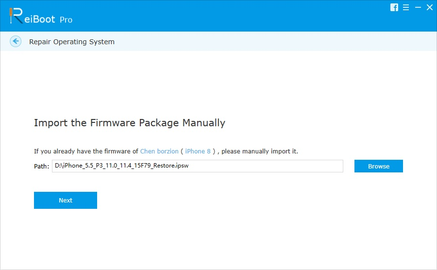 download firmware package manually