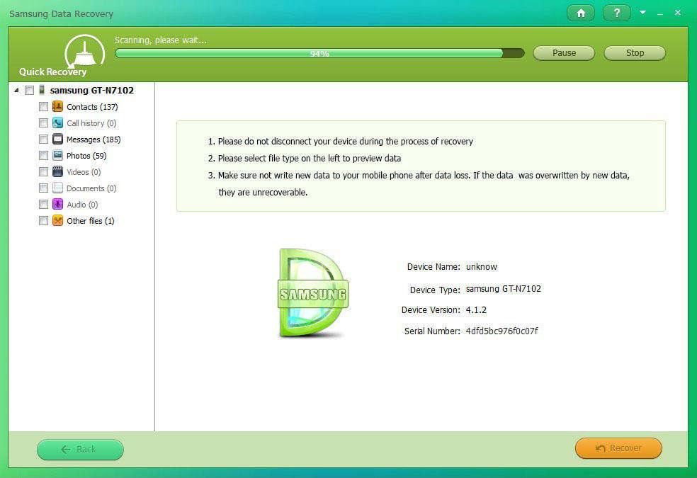 サムスンのデータ復旧を使用してファイルを取得する方法のガイド