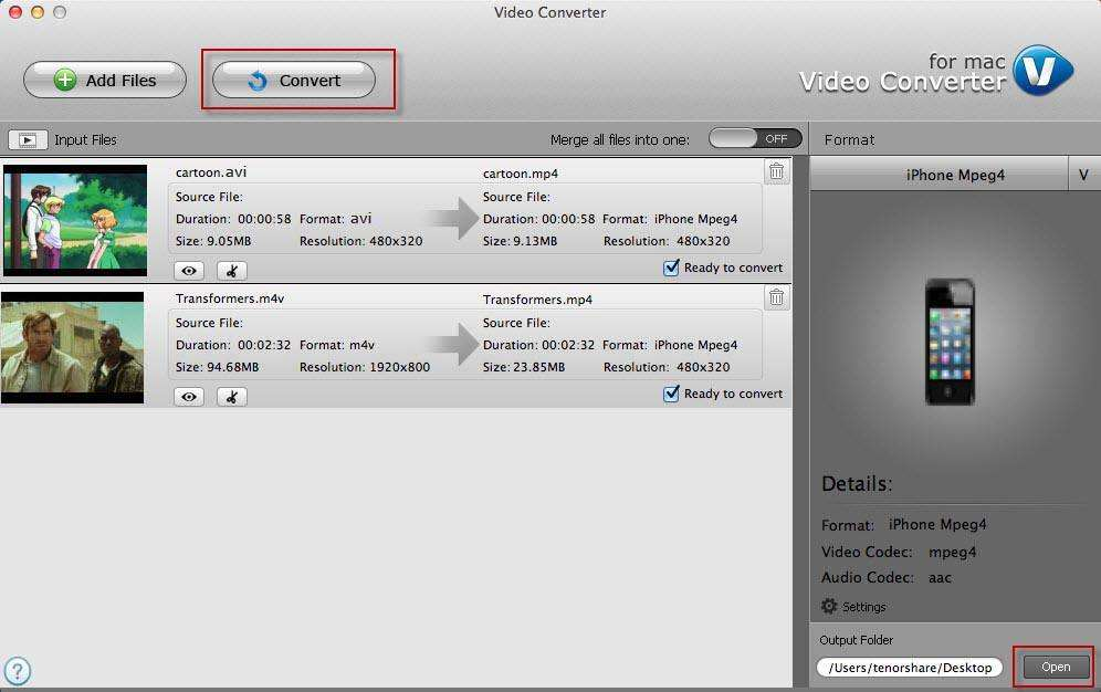 convert .wmv to .mp4 file on mac