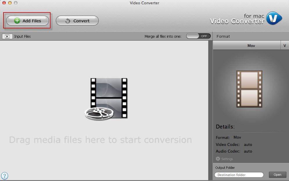 mac video converter UI