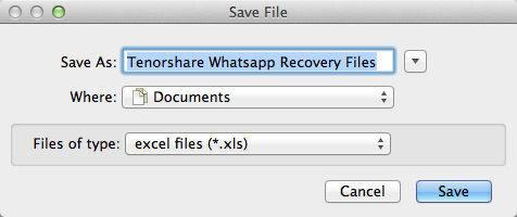 wahtsappの連絡先のMacを回復する方法