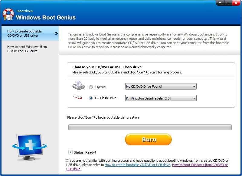 how to create recovery disc for windows 7
