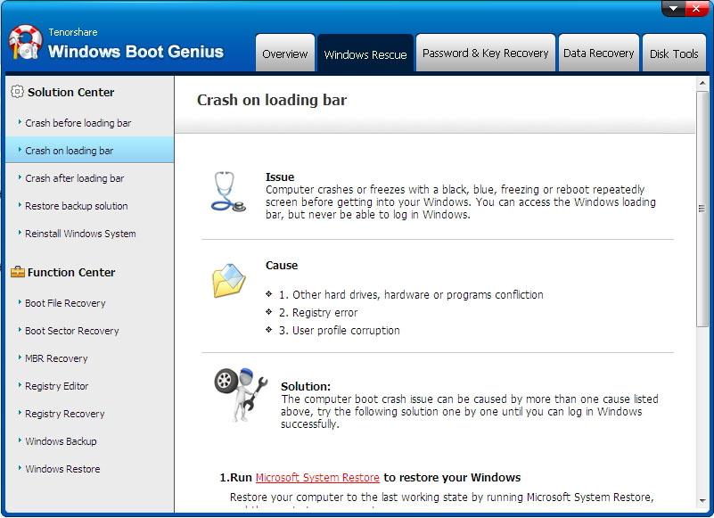 fix windows blue screen - windows boot genius