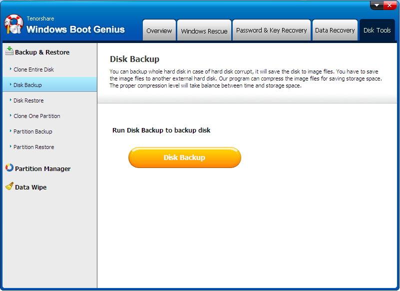 boot windows interface