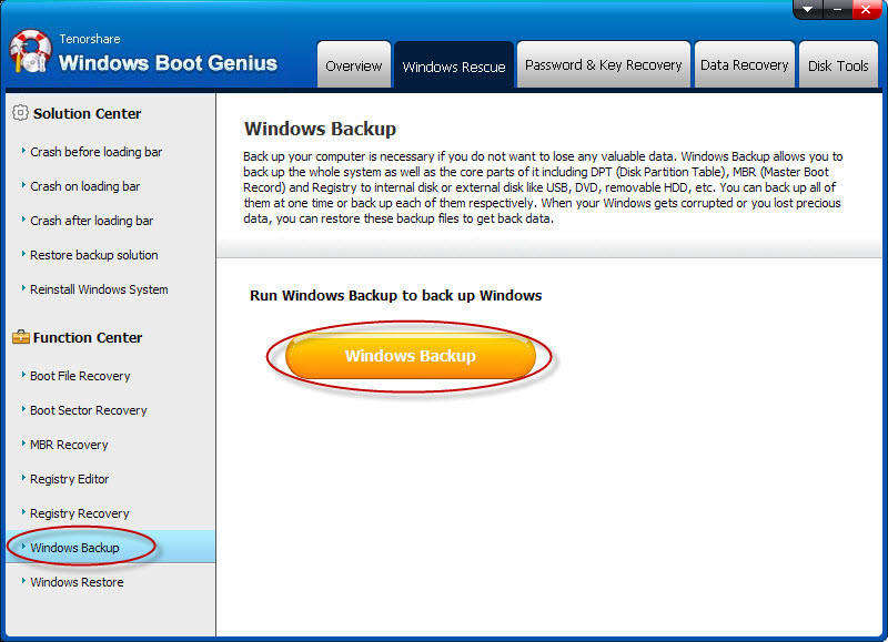 windows boot genius ui