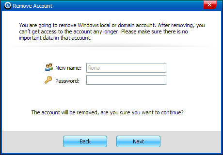 windows password recovery tool ui