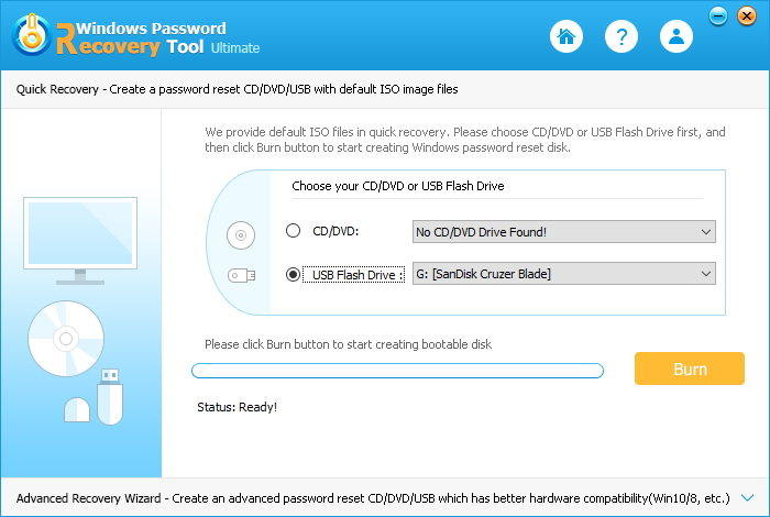tenorshare windows password tool