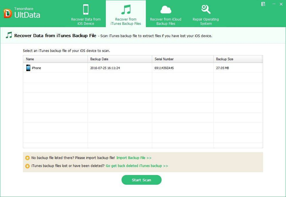 retrieve iPad Air lost videos from iTunes backup file