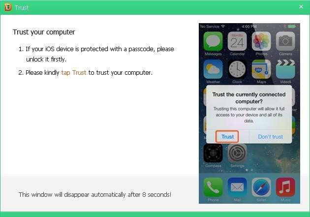 iPad Récupération de données