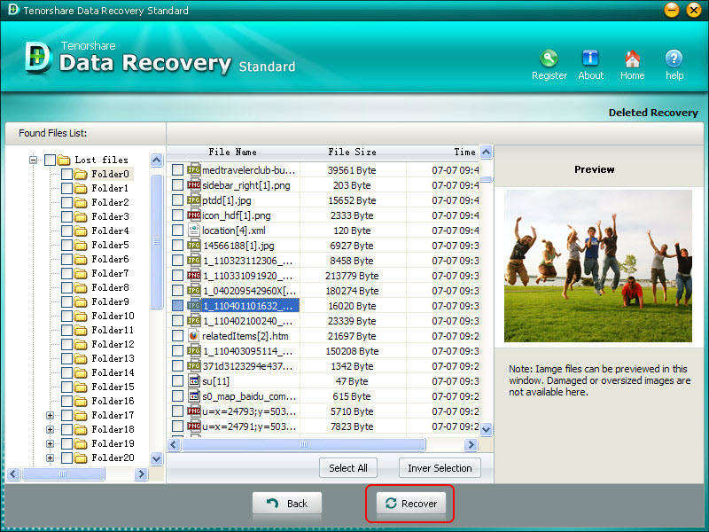 Tenorshare Data Recovery Standard Screen shot