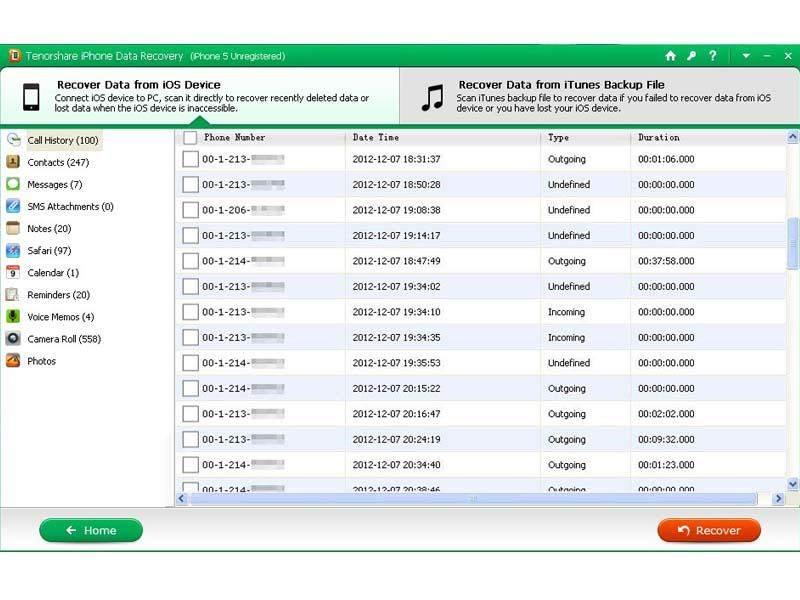 Tenorshare iPhone 5S/5C/5 Data Recovery