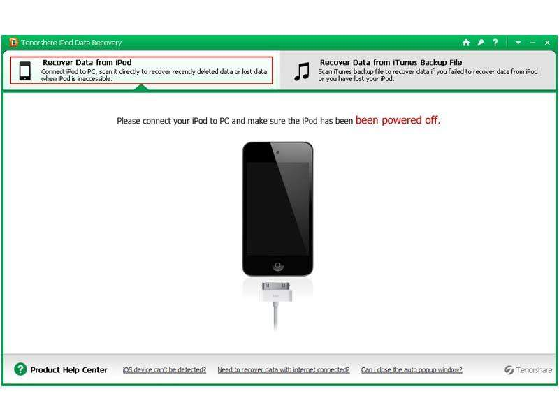 Click to view Tenorshare iPod Data Recovery screenshots