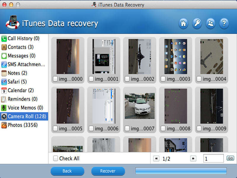 Tenorshare iTunes Data Recovery for Mac Screen shot