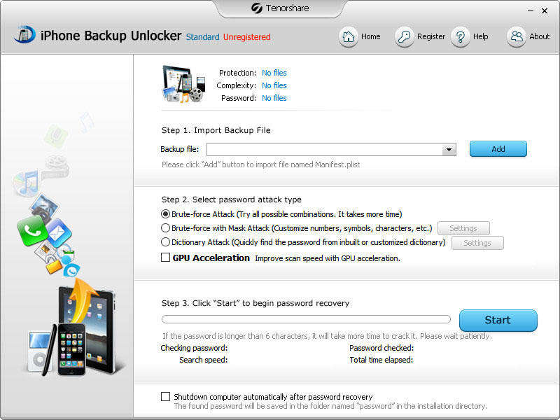 Windows 7 Tenorshare iPhone Backup Unlocker Std 3.4.0.0 full
