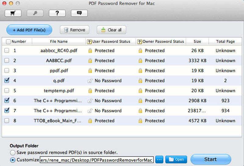 Tenorshare PDF Password Remover for Mac Screen shot