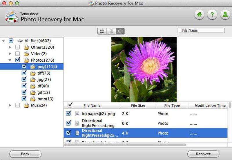 Tenorshare Photo Recovery for Mac Screen shot