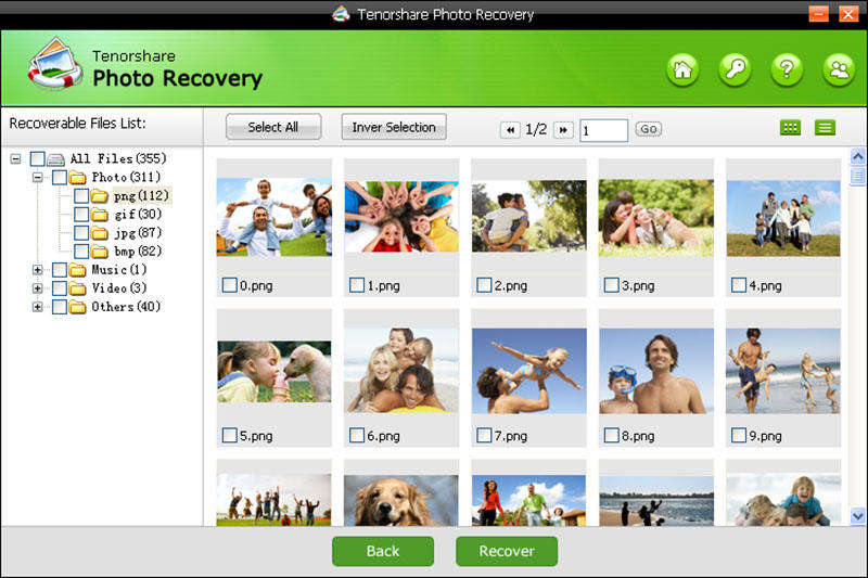Click to view Tenorshare Photo Recovery screenshots