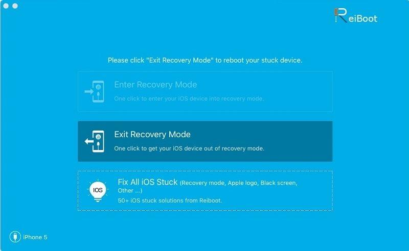Put iPhone/iPad/iPod into recovery mode or out of recovery mode in Mac machine
