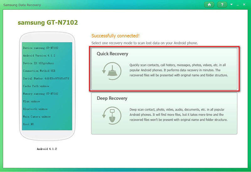 Click to view Tenorshare Samsung Data Recovery screenshots