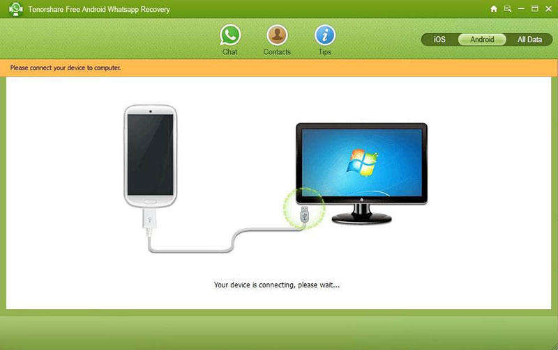 Click to view Tenorshare Whatsapp Recovery screenshots