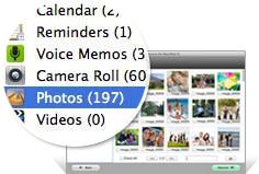 Mac上でiPadのデータを回復